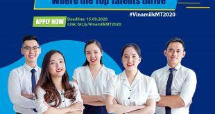 CHƯƠNG TRÌNH QUẢN TRỊ VIÊN TẬP SỰ VINAMILK 2020
